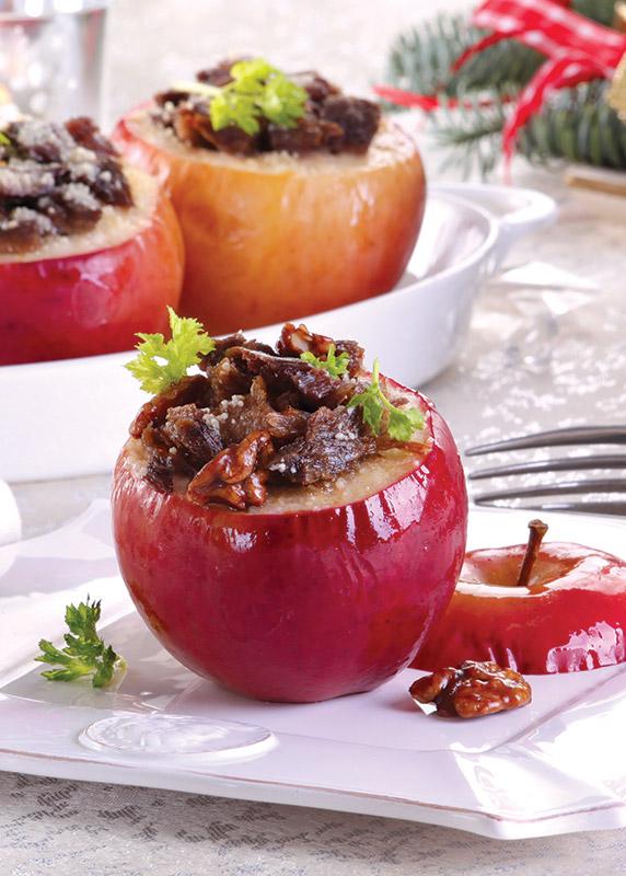 jabłka zapiekane z gęsią